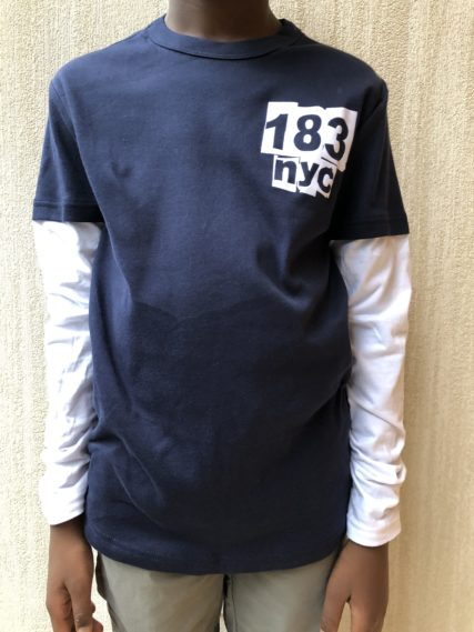 p.s. 183 navy long sleeve shirt