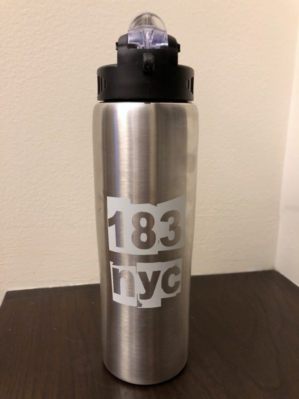 p.s. 183 nyc water bottle in silver