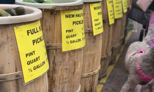 picture of barrels of pickles